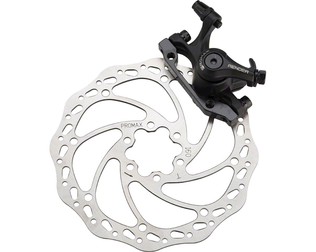 Promax Render DSK-717 Front Mechanical Disc Brake With 160mm Rotor Black