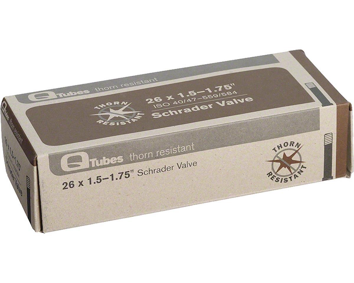 """Q-Tubes Thorn Resistant 26"""" x 1.5-1.75"""" Schrader Valve Tube 452g"""