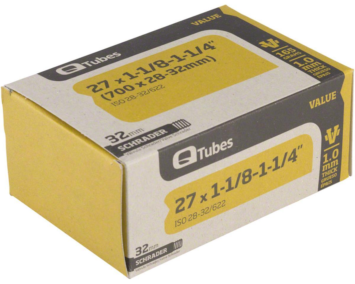 "Q-Tubes Value Series Tube with Schrader Valve: 27"" x 1-1/8-1-1/4"" (700 x 28-32mm"