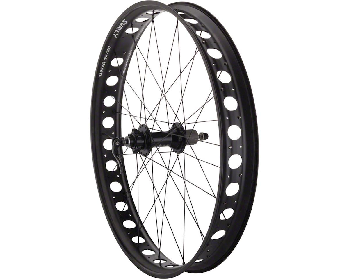 "Quality Wheels Fat Bike Rear Wheel 26"" 32h Surly Rolling Darryl Salsa 170 DT Com"