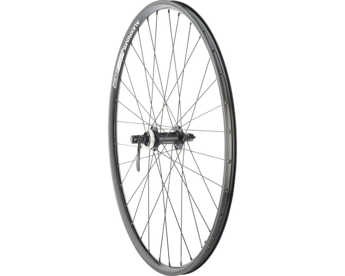 "Quality Wheels Front Wheel Rim and Disc Convenience 26"" 32h Shimano TX505 / Alex"