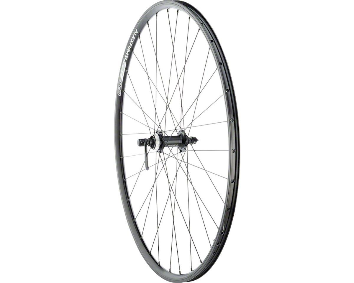 Quality Wheels Value Double Wall Series Rim+Disc Front Wheel - 700, QR x 100mm,