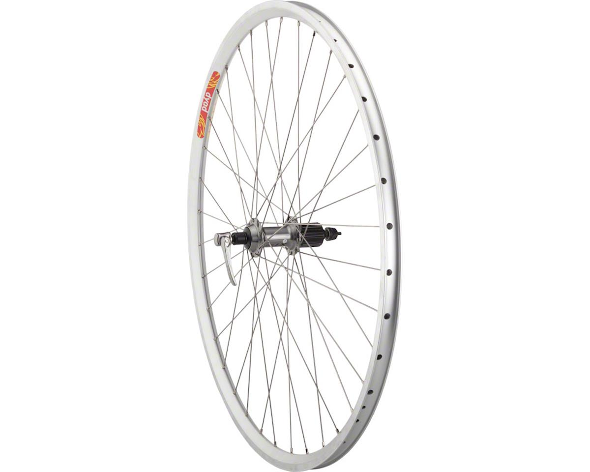 Quality Wheels LX/Dyad Rear Wheel - 700, QR x 135mm, Rim Brake, HG 10, Silver, C