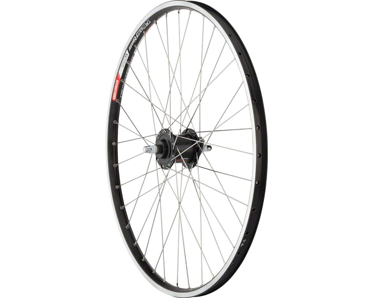 "Quality Wheels Front Wheel Value Rim 26"" Bolt-on 36h Shimano Nexus Dynamo Blk /"