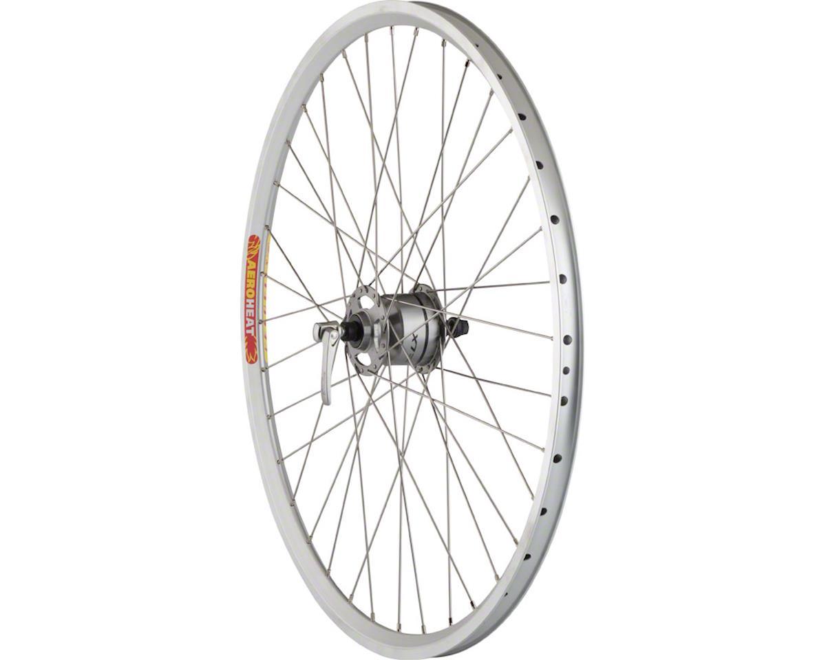 """Quality Wheels Pavement Front Rim Brake Wheel 26"""" 36h Shimano LX Dynamo / Veloci"""