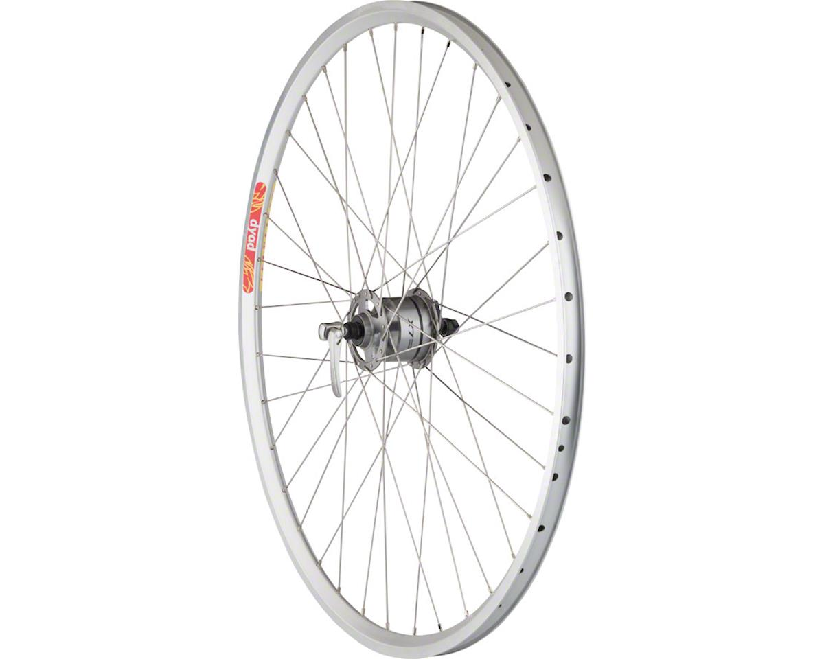 Quality Wheels LX/Dyad Front Wheel - 700, QR x 100mm, Rim Brake, Silver, Clinche