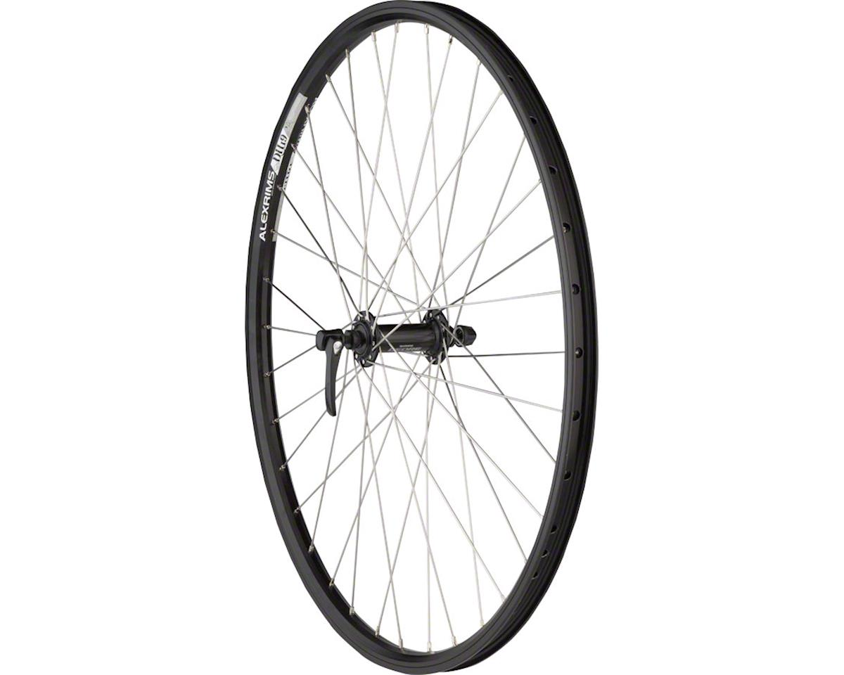 "Quality Wheels Front Wheel Mountain Rim Alex 26"" 100mm 36h DH19 Black / Shimano"