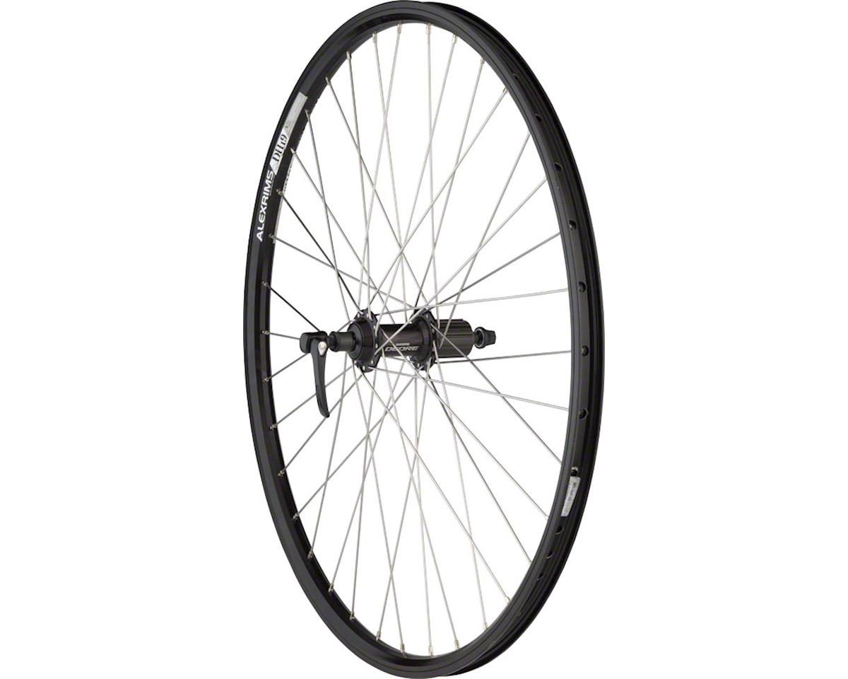 "Quality Wheels Rear Wheel Mountain Rim 26"" 135mm 36h Alex DH19 Black / Shimano D"