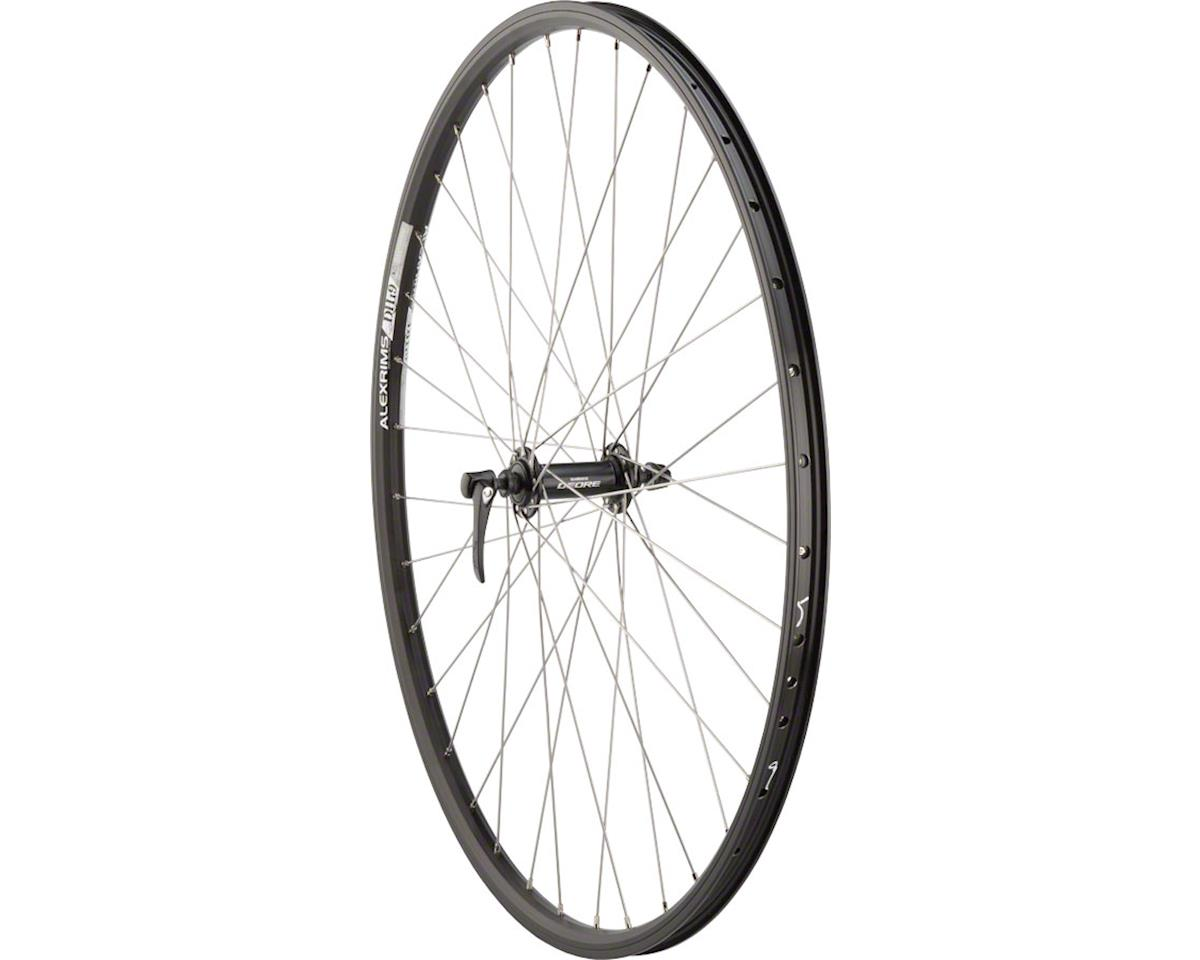 Quality Wheels Front Wheel Mountain Rim Alex 700c 100mm 36h DH19 Black / Shimano