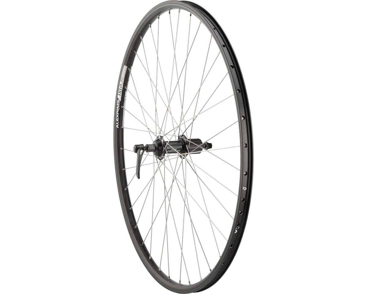 Quality Wheels Rear Wheel Mountain Rim 700c 135mm 36h Alex DH19 Black / Shimano