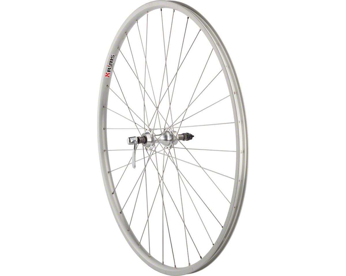 "Quality Wheels Value Series Silver Road  Rear Wheel 27"" Formula 130mm Freewheel"