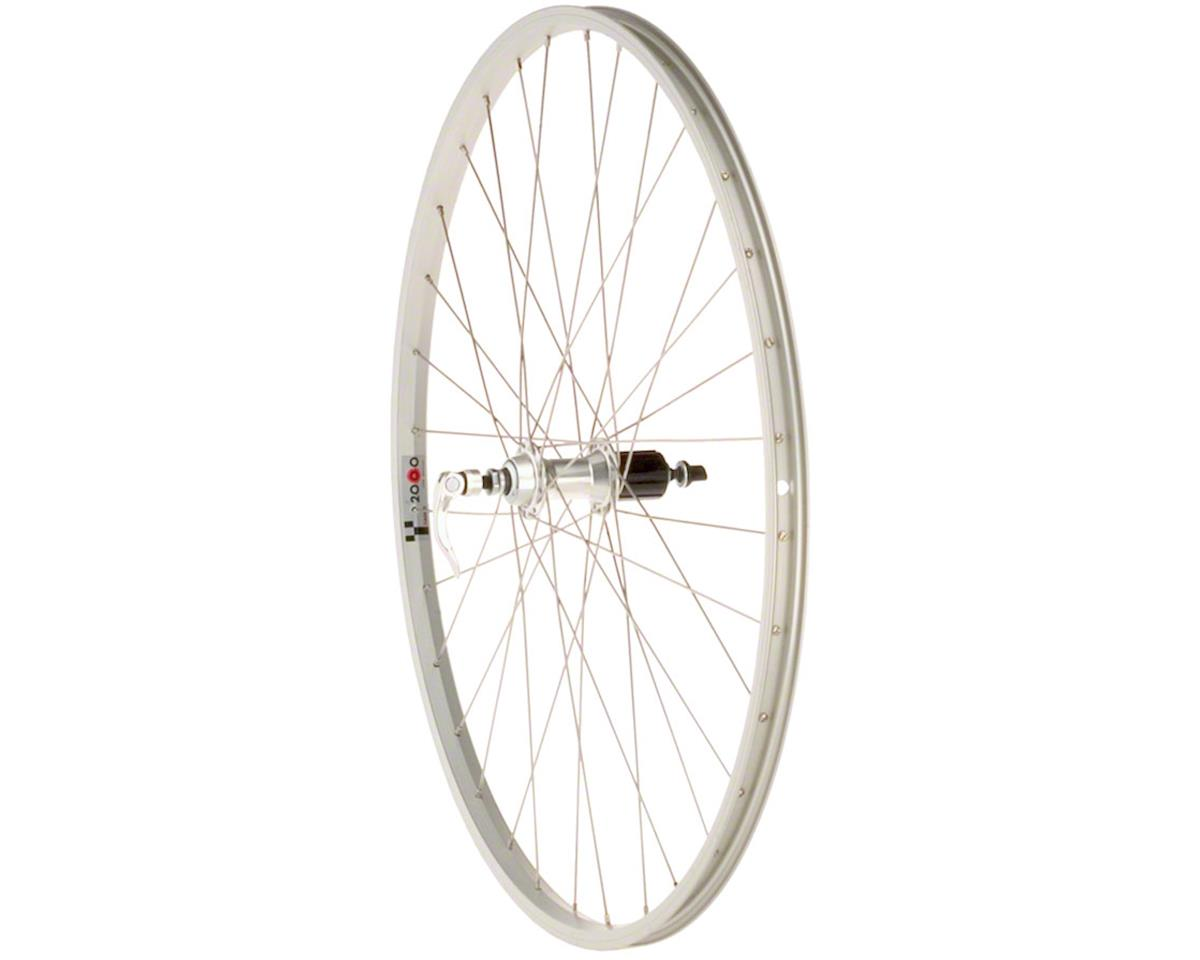 Quality Wheels Value Series Silver Pavement Rear Wheel 700c Formula 130mm Freehu