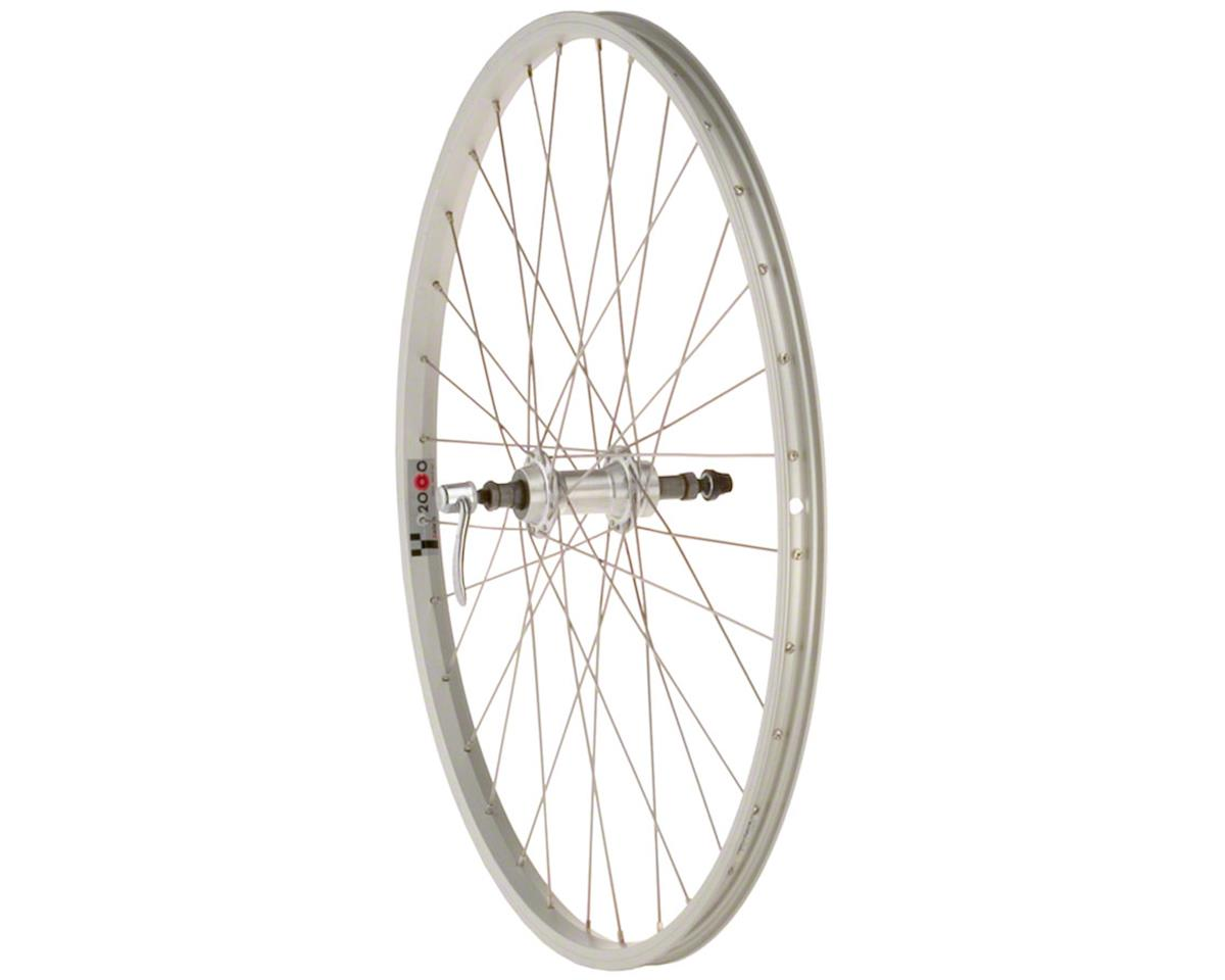 "Quality Wheels Value Series Silver Pavement Rear Wheel 26"" Formula 135mm Freewhe"