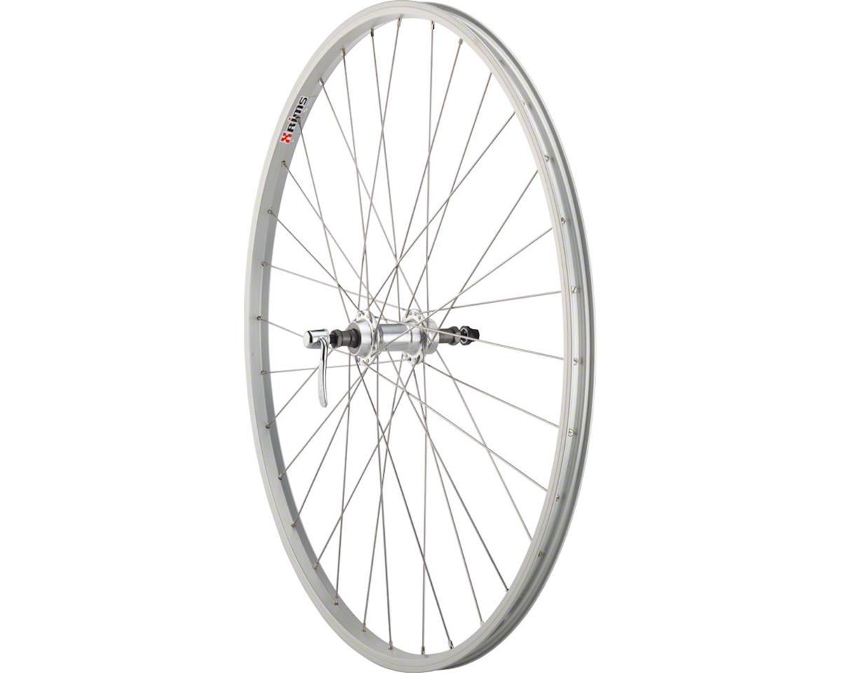 Quality Wheels Value Series Silver Rear Wheel Rim Brake 700c 135mm Freewheel Sil
