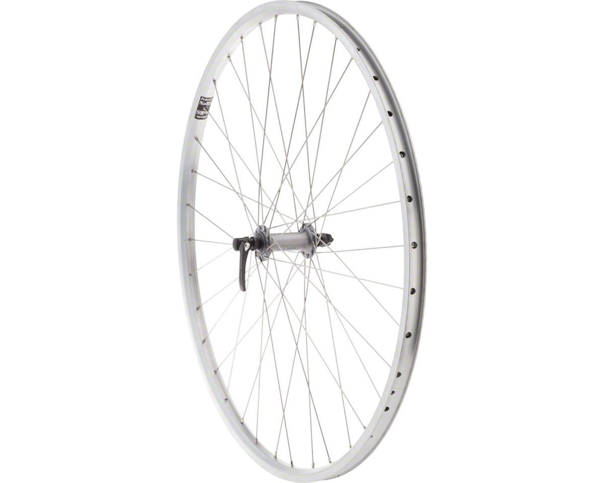 Quality Wheels Value HD Series Front Wheel - 700, QR x 100mm, Rim Brake, Silver,