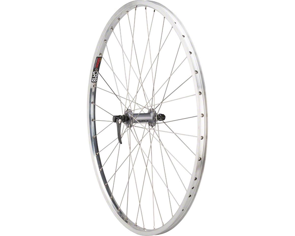 Quality Wheels Value Rim Front Wheel 100mm QR Shimano 2400 Silver / Sun CR-18 Po