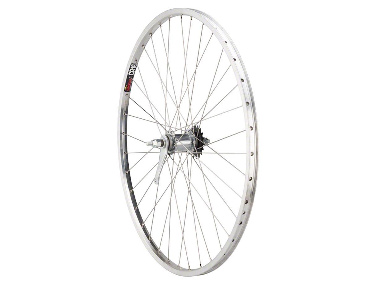 """Quality Wheels CR-18 Polished Rear Wheel - 26"""", 10 x 1 x 124mm, Coaster Brake, 3"""