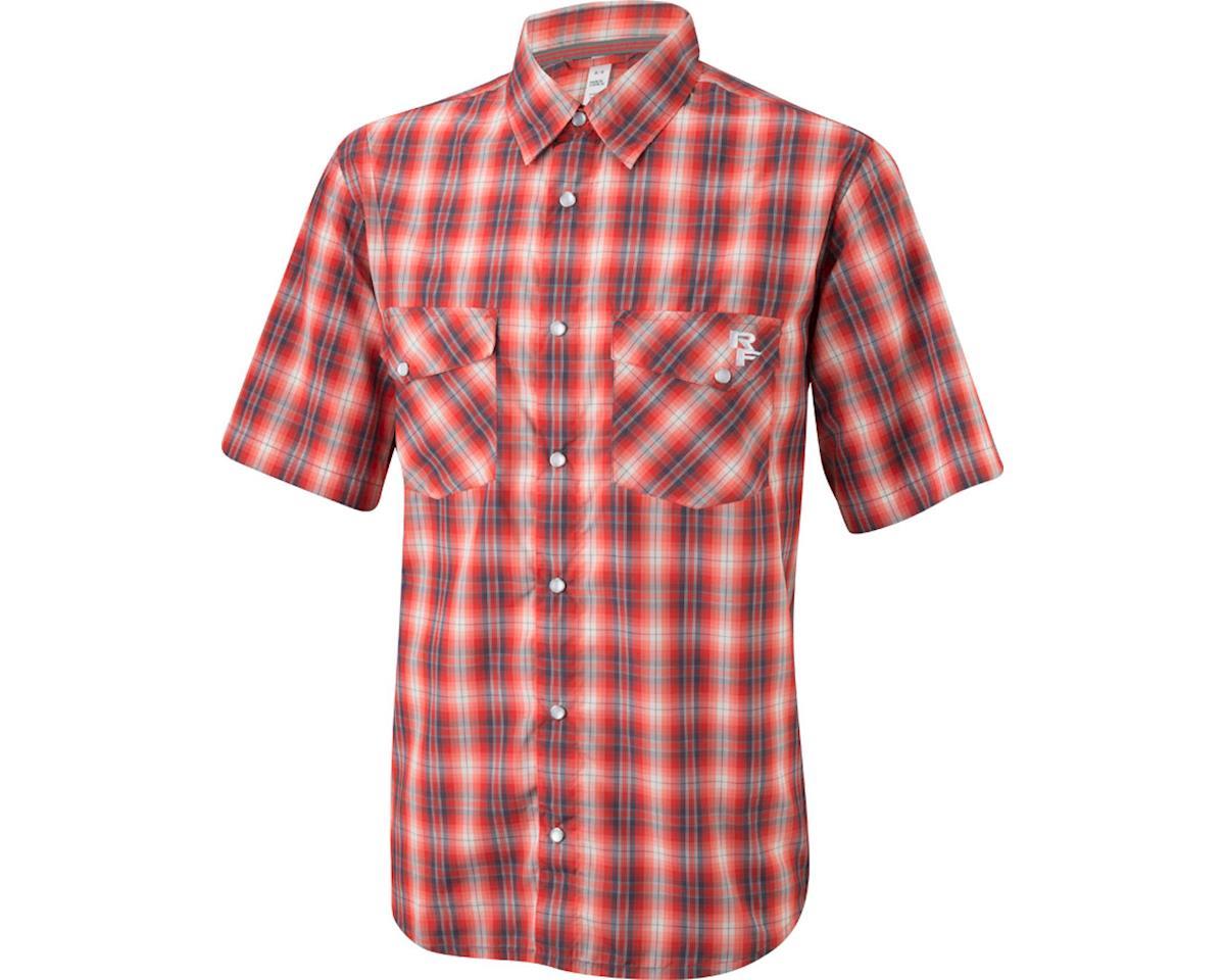 Race Face Shop Men's Shirt (Gray/Red Plaid) (M)