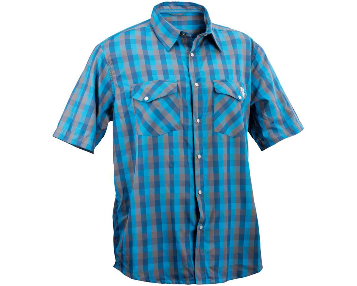 Race Face Shop Men's Shirt (Blue Plaid) (L)