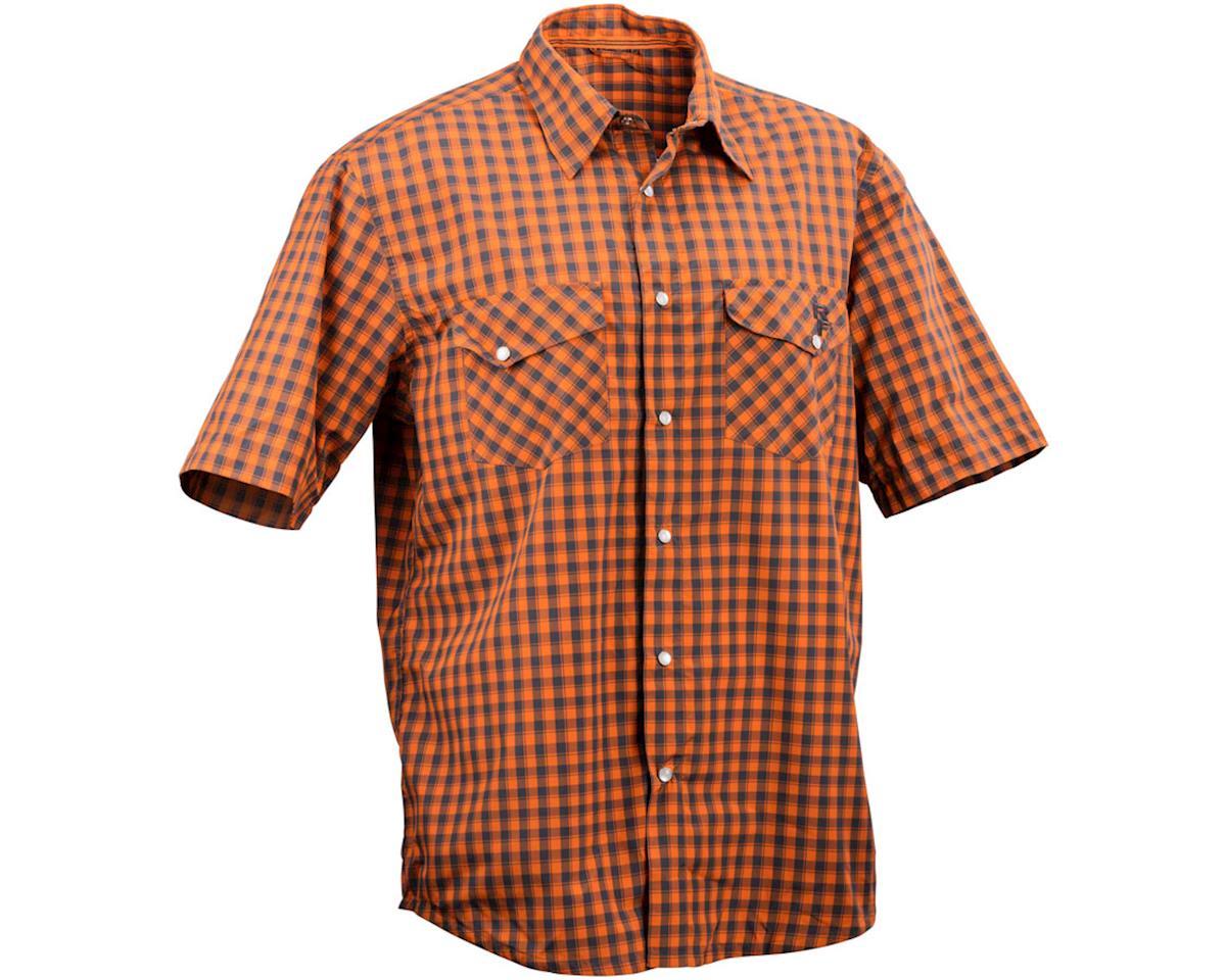 Race Face Shop Men's Shirt (Orange Plaid) (M)
