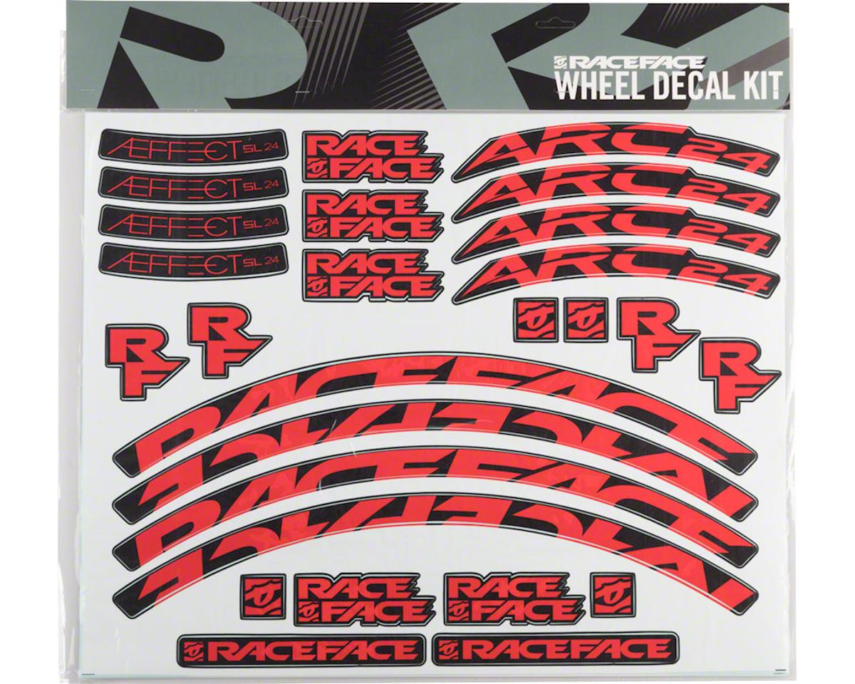 Race Face Decal Kit for Arc 24 Rims & Aeffect SL 24 Wheels (Red)