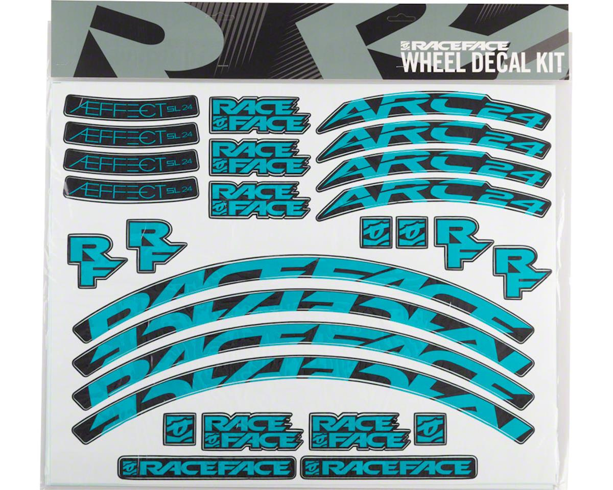 Race Face Decal Kit for Arc 24 Rims & Aeffect SL 24 Wheels (Teal)