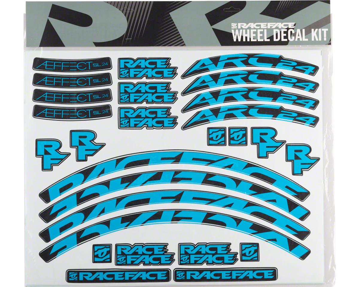 Race Face Decal Kit for Arc 24 Rims & Aeffect SL 24 Wheels (Blue)