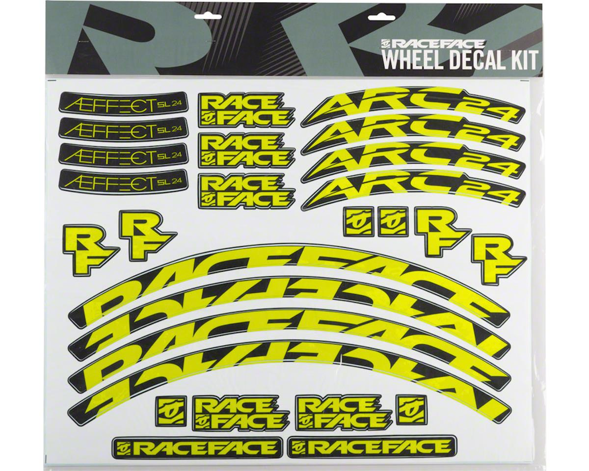 Race Face Decal Kit for Arc 24 Rims & Aeffect SL 24 Wheels (Yellow)