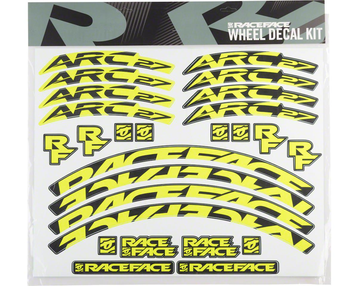 Race Face Decal Kit for Arc 27 Rims (Yellow)