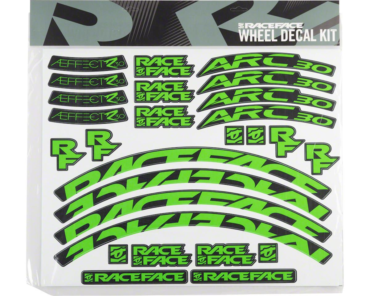 Race Face Decal Kit for Arc 30 Rims & Aeffect R 30 Wheels (Green)