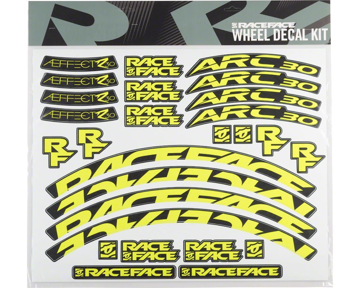 Race Face Decal Kit for Arc 30 Rims & Aeffect R 30 Wheels (Yellow)