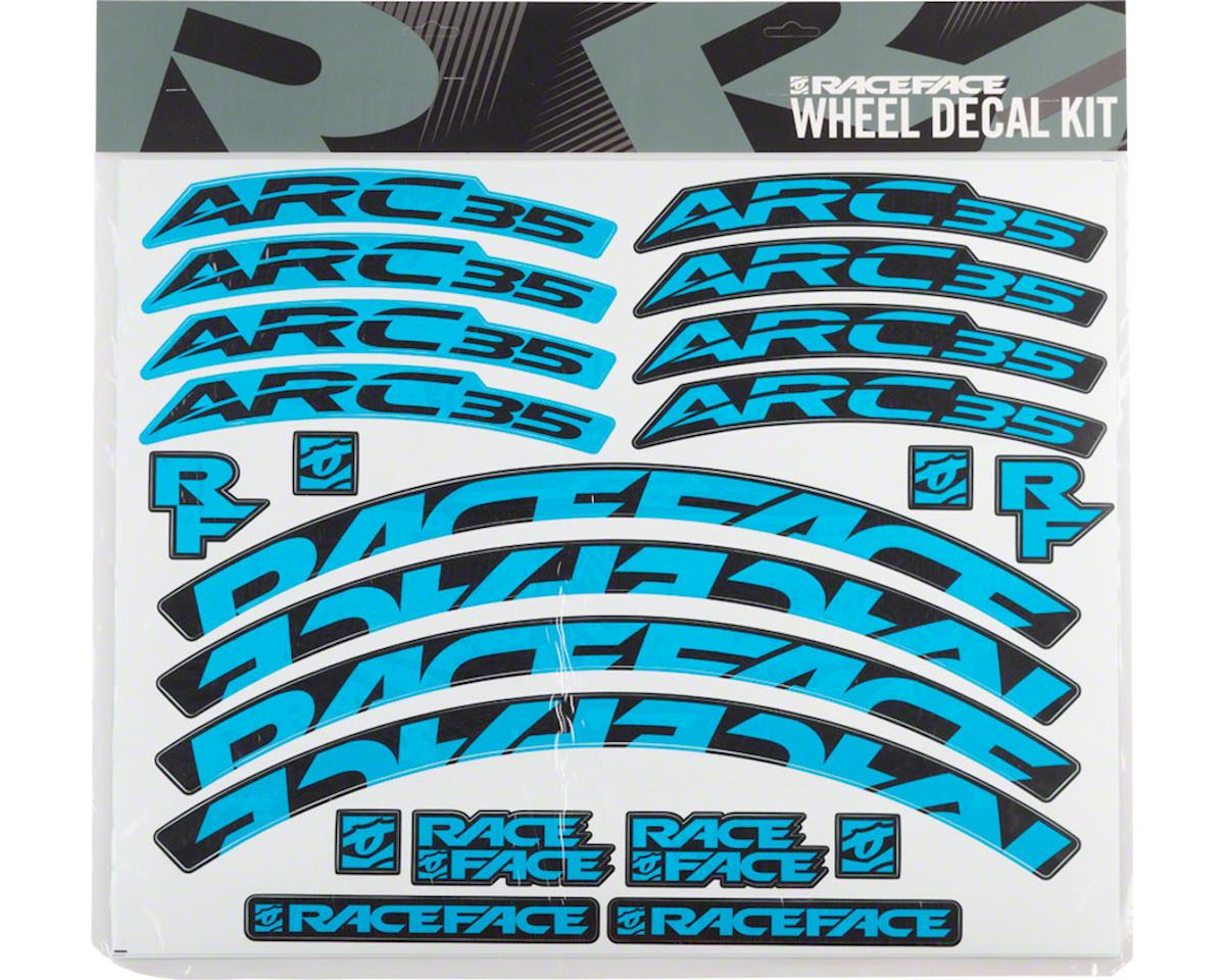 Race Face Decal Kit for Arc 35 Rims (Blue)