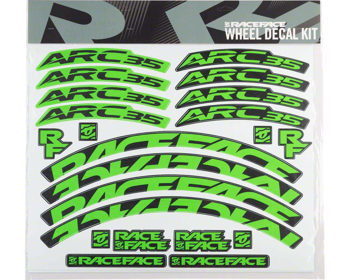 Race Face Decal Kit for Arc 35 Rims (Green)