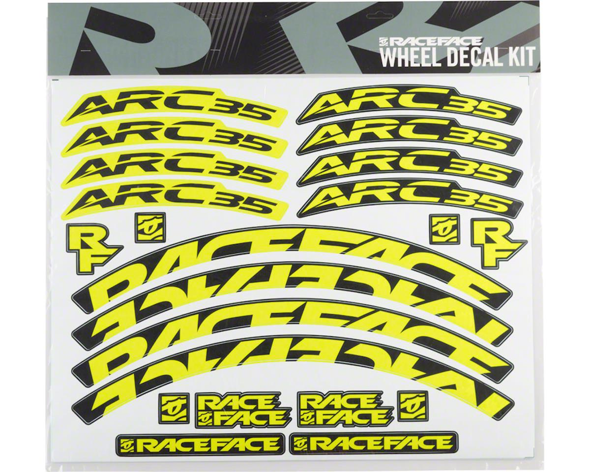 Race Face Decal Kit for Arc 35 Rims (Yellow)