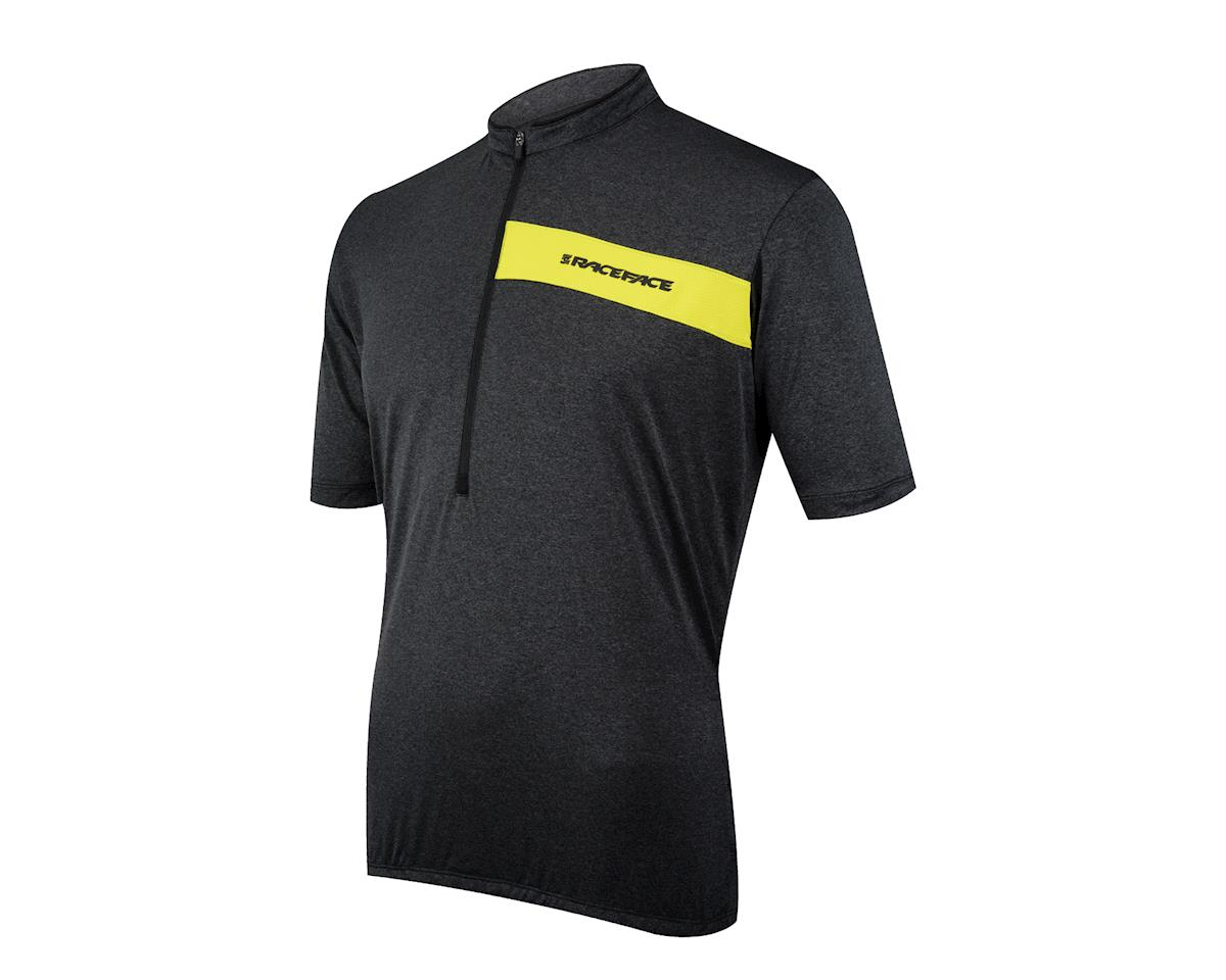 Race Face Podium Short Sleeve Jersey (Black/Yellow)