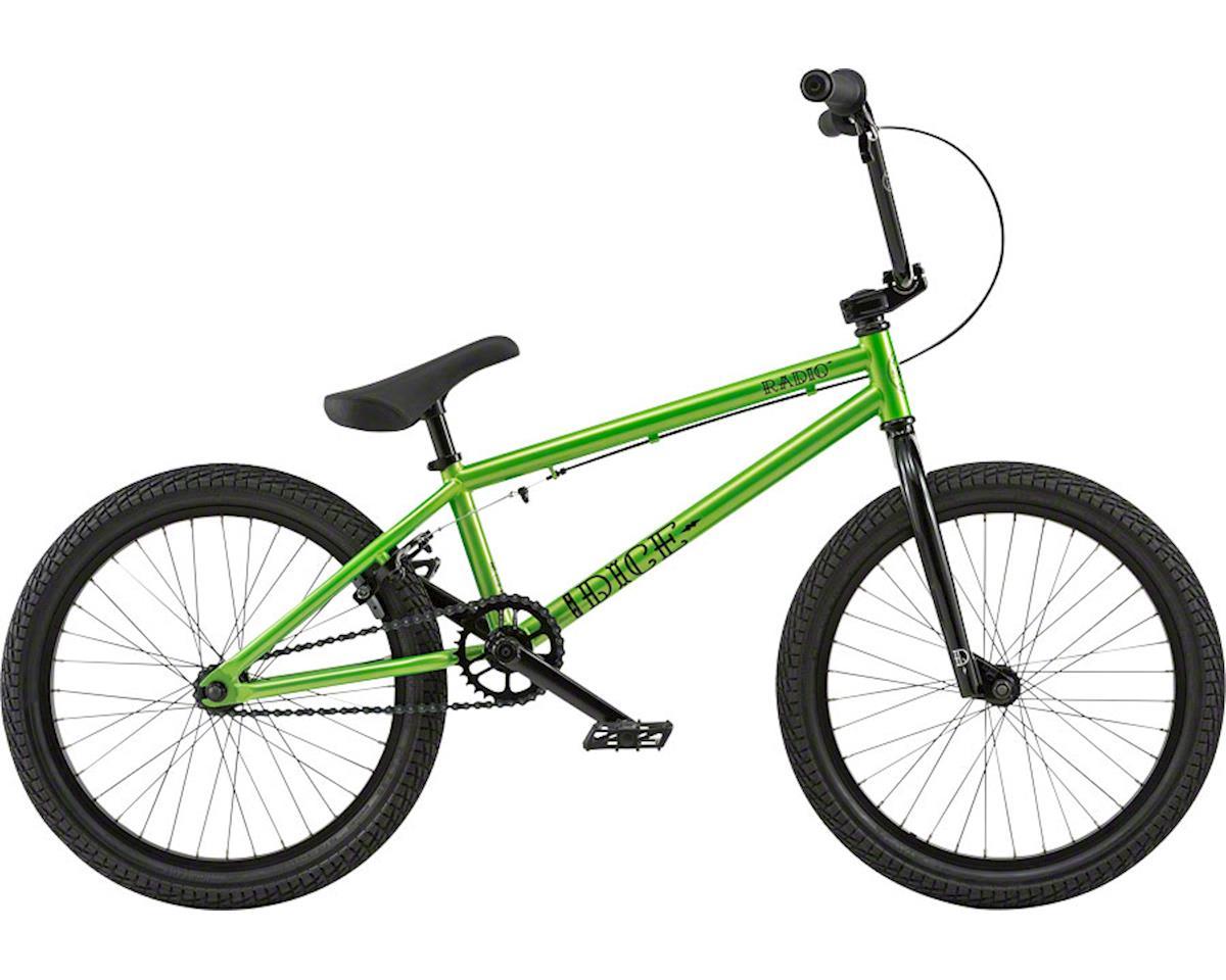 "Radio Dice 20"" 2018 Complete BMX Bike 20"" Top Tube Metallic Green"