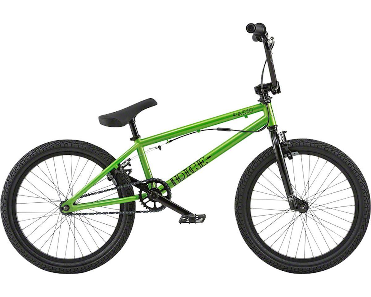 "Radio Dice FS 20"" 2018 Complete BMX Bike 20"" Top Tube Metallic Green"