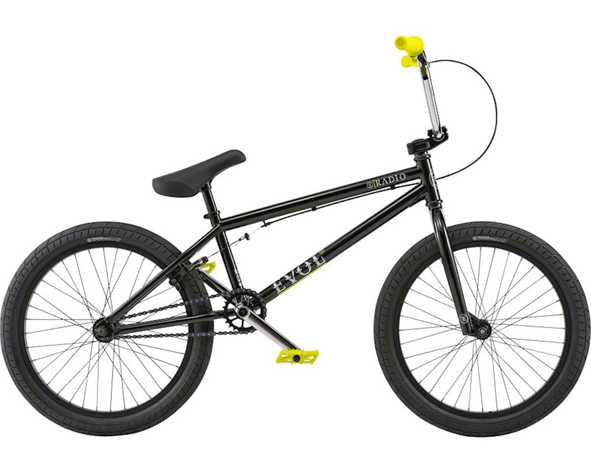 """Radio Evol 20"""" 2018 Complete BMX Bike 20.3"""" Top Tube Glossy Black"""