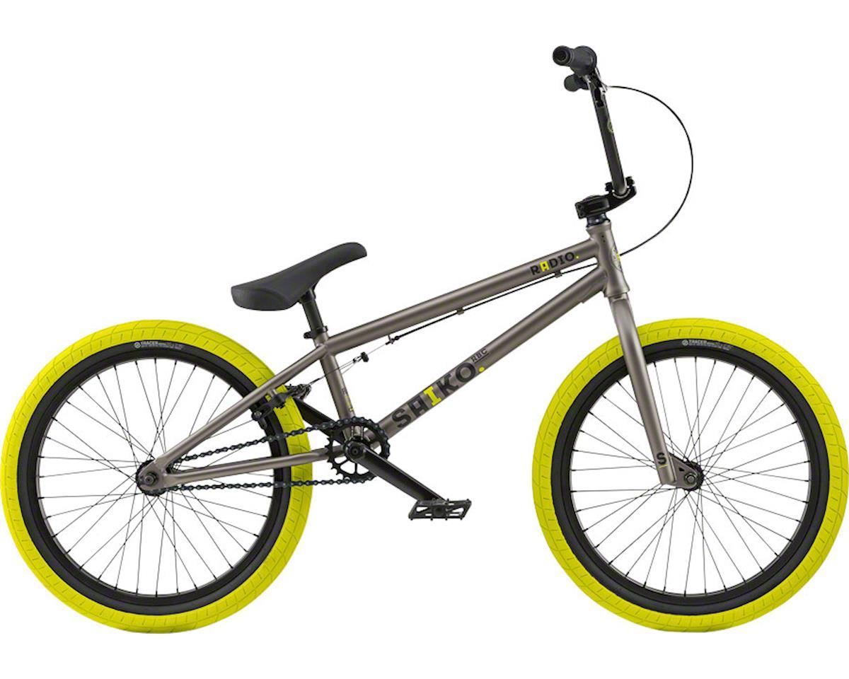 "Radio Saiko 20"" 2018 Complete BMX Bike 20.6"" Top Tube Steel Gray"