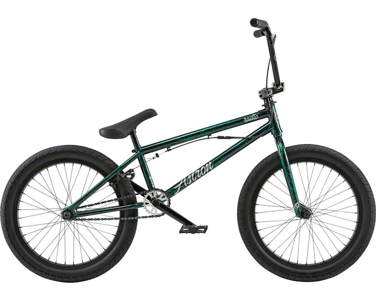 "Radio Astron FS 20"" 2018 Complete BMX Bike 20.6"" Top Tube Glossy Black/Green Spl"