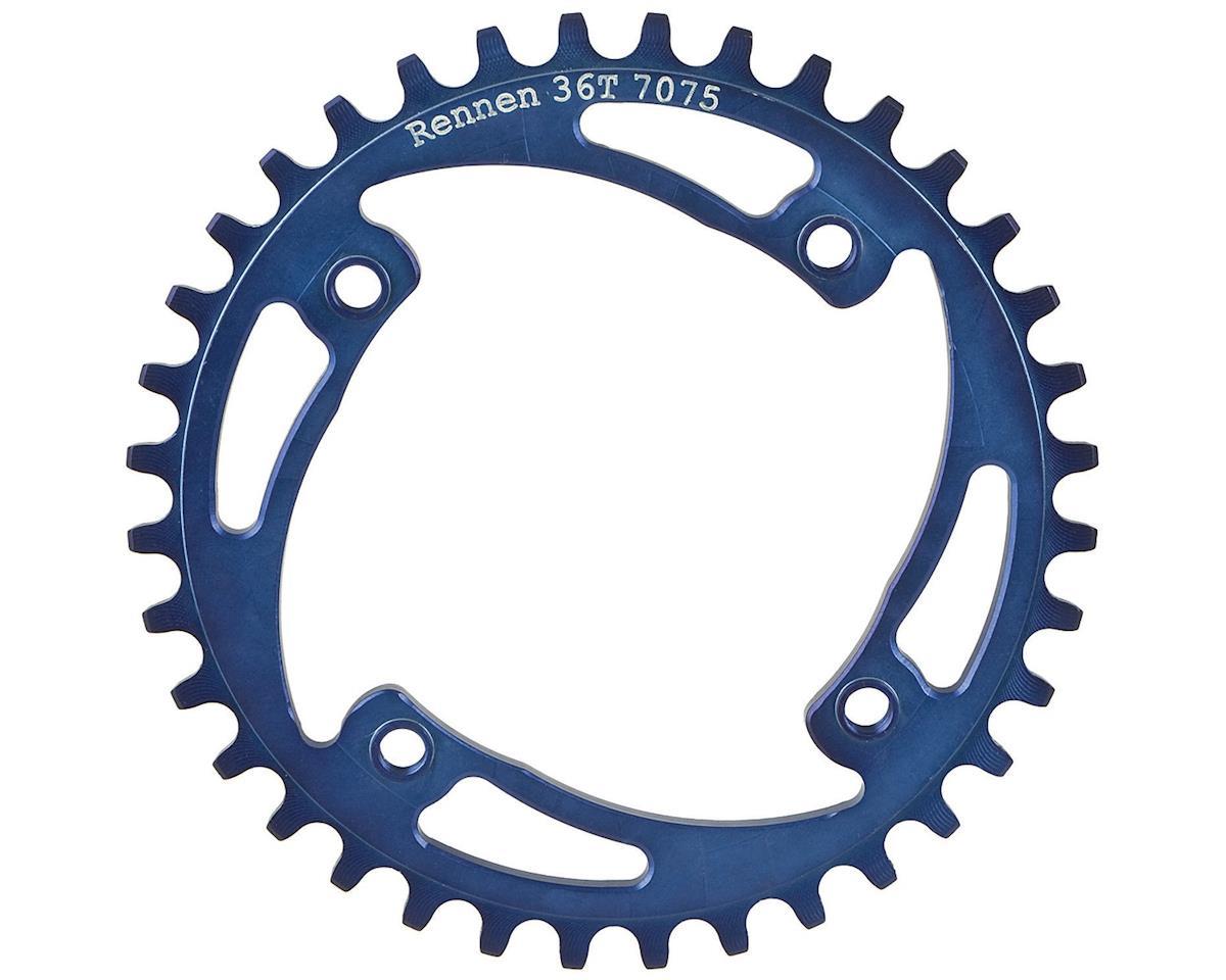 RENNEN BMX Threaded 4-Bolt Chainring (Blue) (36T)