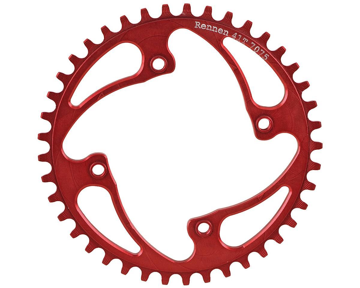 RENNEN BMX Threaded 4-Bolt Chainring (Red) (36T)