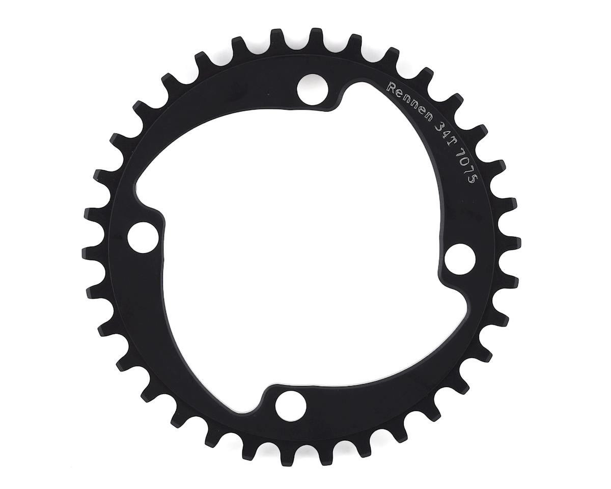 RENNEN 4-Bolt Chainring Non-Threaded (Black)