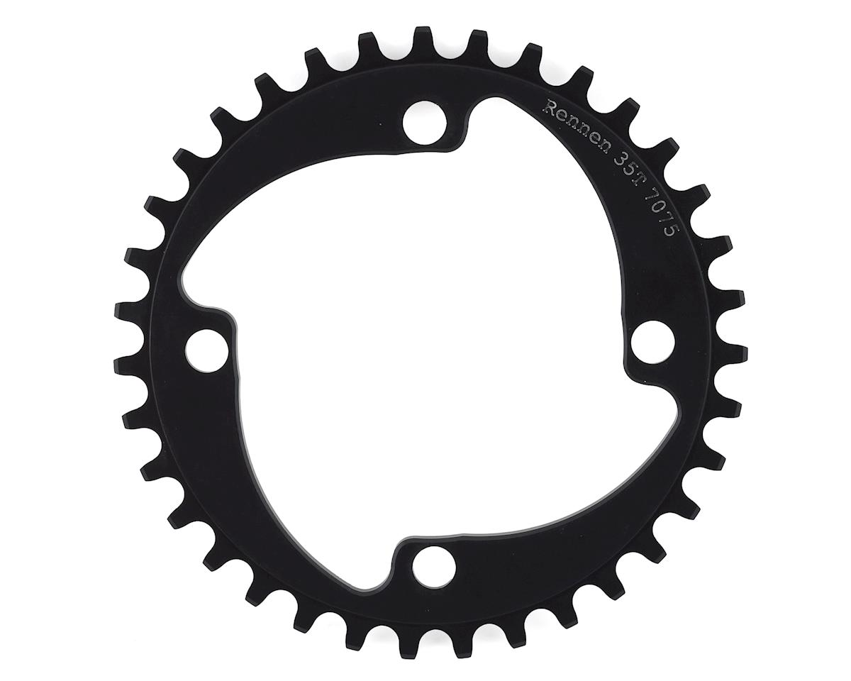 Image 1 for RENNEN 4-Bolt Chainring Non-Threaded (Black) (35T)