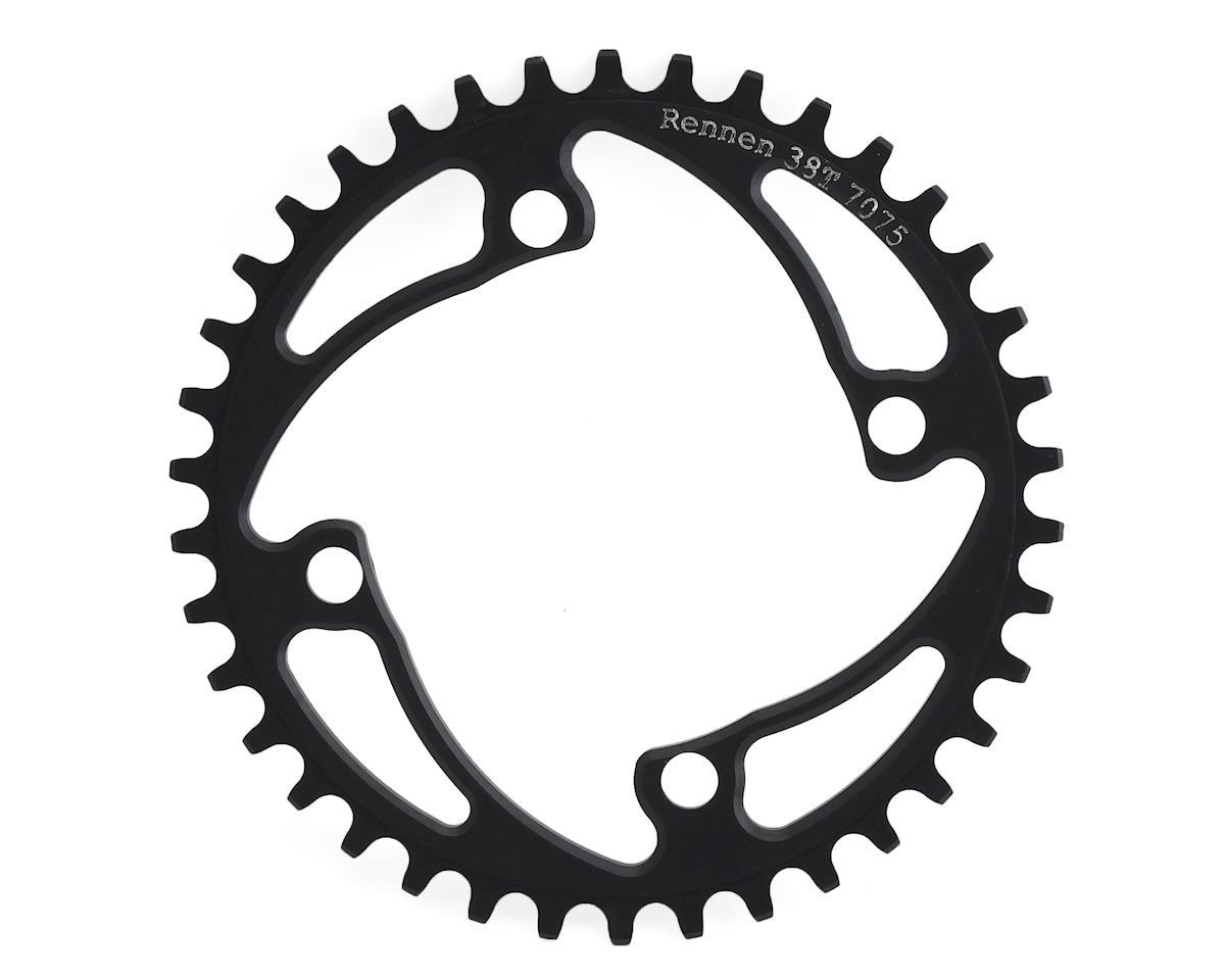 RENNEN 4-Bolt Chainring Non-Threaded (Black) (38T)