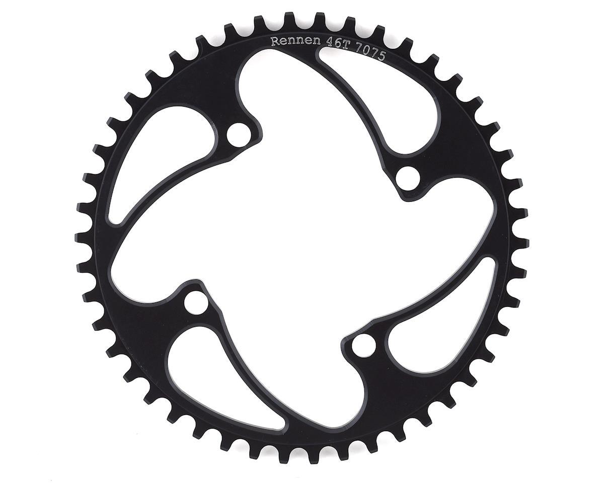 Image 1 for RENNEN 4-Bolt Chainring Non-Threaded (Black) (46T)