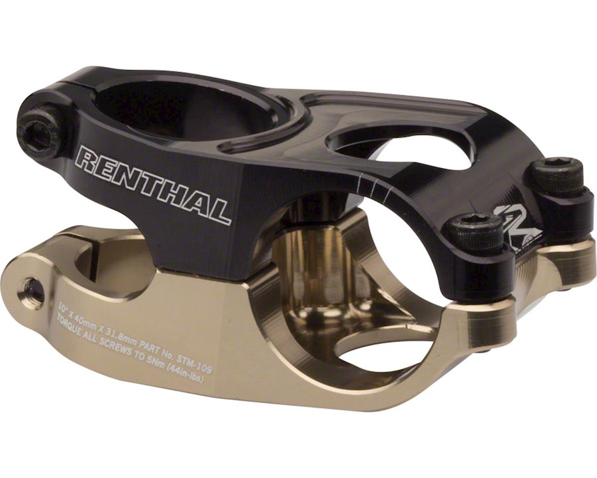 "Renthal Duo Stem (Black/Gold) (31.8mm Clamp) (1-1/8"") (40mm Length) (+/-10°)"