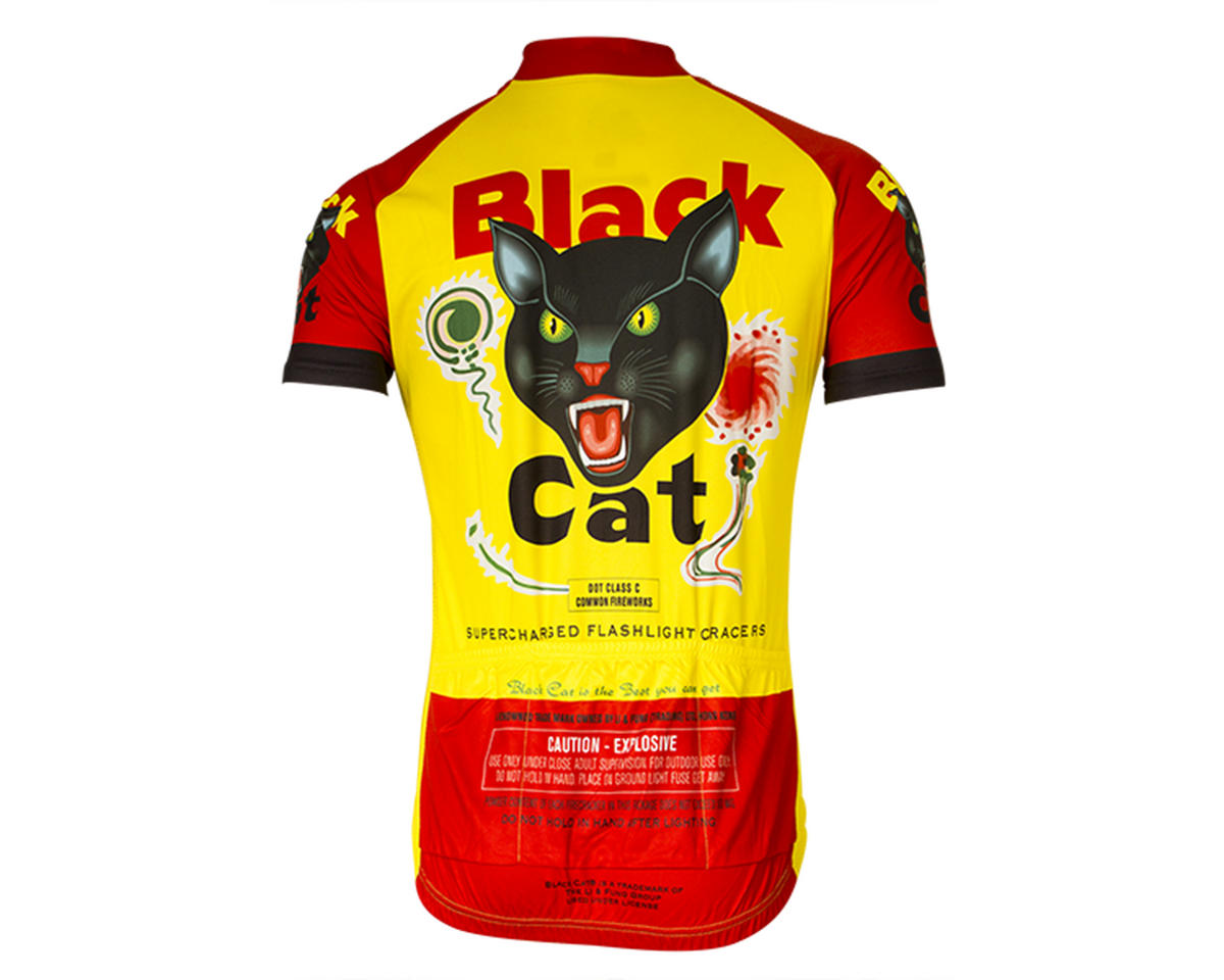 Retro Black Cat Fireworks Men's Jersey (L)