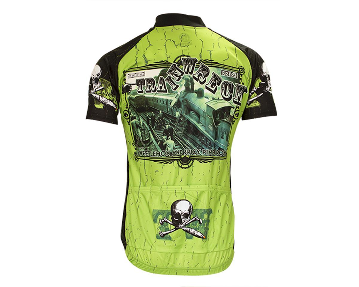 Retro Train Wreck Men's Cycling Jersey (M)