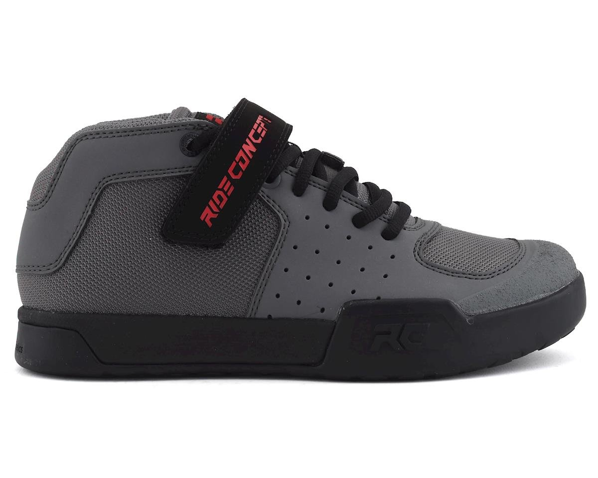 Ride Concepts Youth Wildcat Flat Pedal Shoe (Charcoal/Red)